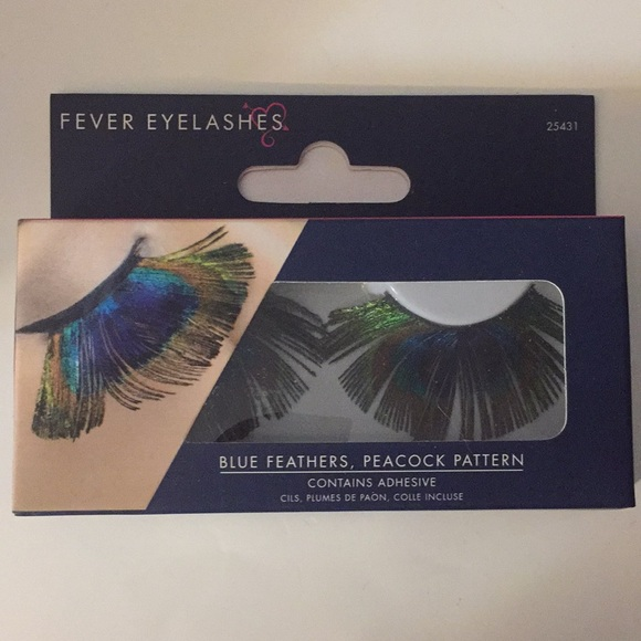 02736d06ef9 Fever London Other - FEVER EYELASHES-BLUE FEATHERS-PEACOCK PATTERN-BNIB